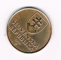 °°° SLOWAKIJE  1  KORUNA  1993 - Slovaquie