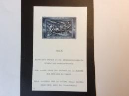 Suisse Schweiz 1945 Block Kriegsgeschädigten ** Tadellos / Bloc Feuillet Yv. 11 ** SUP.(guerre 1939-45 WW2 Bateaux Canot