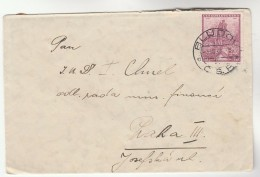 1936 Bludov  CZECHOSLOVAKIA COVER Stamps 1k Macha Poet - Covers & Documents