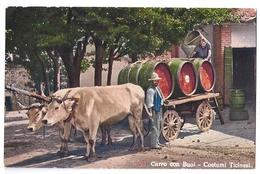 Weinbau: Carro Con Buoi - Costumi Ticinesi ~1920 - TI Tessin