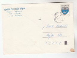 1980s CZECHOSLOVAKIA COVER Stamps FISH - Covers & Documents