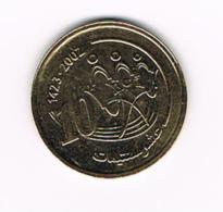 °°° MAROKKO  10 SANTIMAT  2002 ( 1423 ) - Maroc
