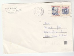 1991 Udni Nad Labem CZECHOSLOVAKIA COVER Stamps 1k Masaryk - Covers & Documents