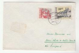 1967 Horn CZECHOSLOVAKIA COVER Stamps  60h 1.60k - Cartas