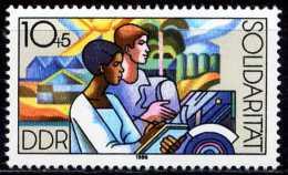 DDR - Mi 3054 - ** Postfrisch (E) - 10+5Pf     Solidarität 86 - [6] République Démocratique