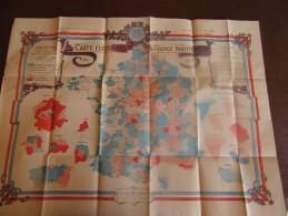 Carte Géographique , électorale De La France Parlementaire - Carte Geographique