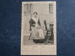 Lothringerin  Lorraine  Jeune Femme Assise Tenant Un Livre - Précurseur - Ed. JM N° 19  - Circulée 190? - L269 - Costumes