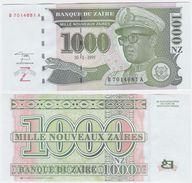Zaire P 66 - 1000 1.000 Nouveaux Zaires 30.1.1995 - UNC - Zaire