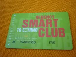 Greece Athens Regency Casino Mont Parnes Magnetic Player´s Member Slot Card - Casino Cards