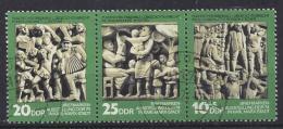 Germany (DDR) 1974  Tag Der Philatelisten  (o) MNH  Mi.1988-1990 (W Zd 306) - Gebraucht