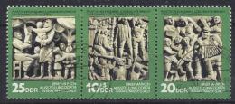 Germany (DDR) 1974  Tag Der Philatelisten  (o) MNH  Mi.1988-1990 (W Zd 307) - Gebraucht