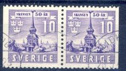 ##Sweden 1941. Pair From Booklet. Michel 283D. Used - Oblitérés