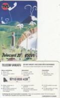 VANUATU - Children Painting, Telecom Vanuatu Prepaid Card 450 Vt, Exp.date 31/12/08, Used - Vanuatu