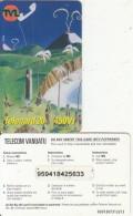 VANUATU - Children Painting, Telecom Vanuatu Prepaid Card 450 Vt, No Exp.date, Used - Vanuatu
