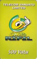 VANUATU - Smile Rifil, Telecom Vanuatu Prepaid Card 500 Vt(paper), Used - Vanuatu