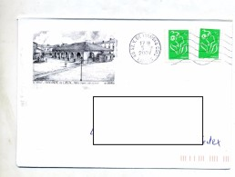 Lettre Flamme Muette Saint Vincent Tyrosse Illustre  Saint Andre - Mechanical Postmarks (Advertisement)
