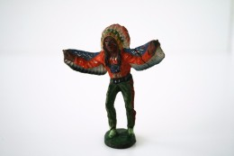 Elastolin, Lineol Hauser, Indian - Native Warior Chief, 1937, Vintage Toy Soldier - - Figurines