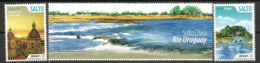 Rio Uruguay (Salto Chico)   2 Timbres Neufs ** , Inclus Vignette - Uruguay