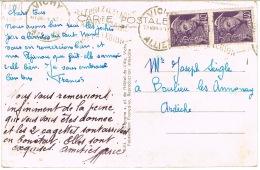 O.MEC KRAG VICHY ANNIVERSAIRE DE LA LEGION 1941 SUR CPA - Marcophilie (Lettres)