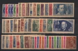 France - Année Complète 1938 - N°372 à 418 - Neuf Luxe ** - MNH - Postfrisch - Cote 750 EUR