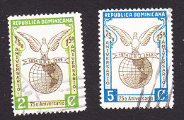 Dominican Republic, Scott #434-435, Used, Pigeon And Globe, Issued 1950 - Dominican Republic