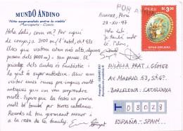 19150. Postal Aerea HUARAZ (Peru) 1997. Niño En Niebla - Peru