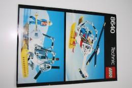INSTRUCTION MANUAL - LEGO - 8640 - Original Lego 1986 - Vintage - Catalogues