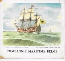 C. M. B.  St.Carolus Compagnie D'Ostende ( 20x18cm);illustrator G.Donnet? - Paquebote
