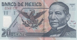 (B0580) MEXICO, 2001. 20 Pesos. Polymer Plastic. P-116b. AUNC (AU) - Mexico