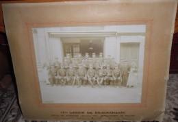 PHOTO SUR CARTON 17IEME LEGION DE GENDARMERIE GREVE DE NARBONNE DETACHEMENT DE FLEURY - Photographie