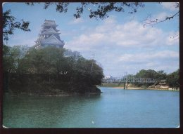 CPM Non écrite OKAYAMA Castle & Tsukimi Bridge On Asahi River - Giappone