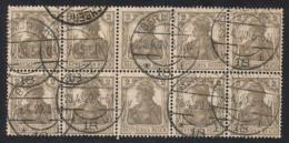 SALE! Deutsches Reich 1918, MiNr 102 In 10-block  Used -  Very Nice Postmarks - Allemagne