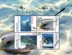 CANOUAN Of ST.VINCENT ; SCOTT # ; IGPC 1206 SH ; MINT N H STAMPS (  FISH ; STINGRAYS - St.Vincent Und Die Grenadinen