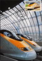 FR. - 2004 - EUROSTAR à Quai En Gare De WATERLOO - Paris Le 04/05.02.2004 - SUPERBE - Trains
