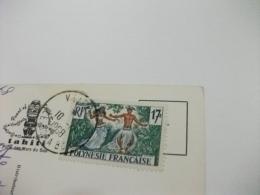 STORIA POSTALE FRANCOBOLLO COMMEMORATIVO POLINESIA FRANCESE  PIN UP CHARMANTE TAHITIENNE A LA RIVIERE FAUTAUA - Polinesia Francese