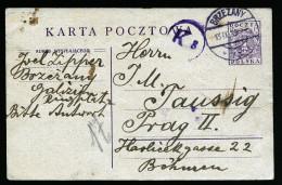 A4195) Poland Polen Karte Von Brzezany / Galizien 13.9.19 Nach Prag / CSR - ....-1919 Übergangsregierung