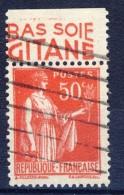 #(129) France Advertising Appendege. GITANE. Yvert 283 IV. Braun 819. Used - Advertising