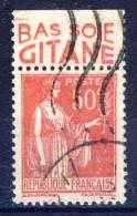 #(131) France Advertising Appendege. GITANE. Yvert 283 IV. Braun 819. Used - Advertising