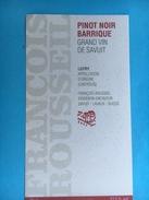 1704 - Suisse Vaud Pinot Noir Barrique Grand Vin De Savuit - Etiquettes