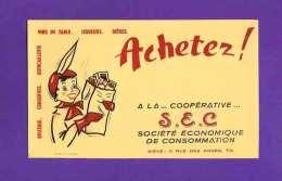 BUVARD : Achetez A La Cooperative  SEC  Vins De Table Liqueurs Bieres - Liquor & Beer