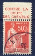 #(139) France Advertising Appendege. HAHN. Yvert 283 IV. Braun 832. Used - Advertising