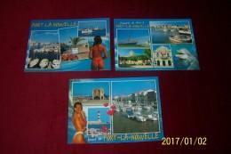 LOT DE 3 CARTES DE  PORT LA NOUVELLE - Port La Nouvelle