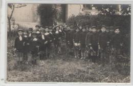 6  Carte Photo  Groupe Enfants école? Avec Trompes De Chasse - Cartes Postales
