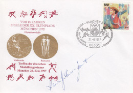 OLYMPISCHE SPIELE-OLYMPIC GAMES, Western Germany, 1972, Special Card/stamp/postmark !! - Estate 1972: Monaco