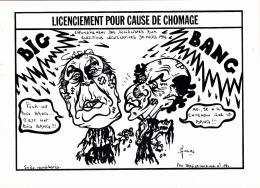 "CPM  F. MITTERRAND  L. FABIUS ""Big Bang""  Caricature Tirage Limité LARDIE - Lardie"