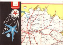 EXPO 1958 BRUSSEL LANDKAART  PLAN VAN BELGIË  CALTEX RECLAME  Repren - Cartes Topographiques