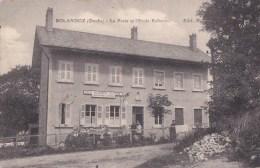 25 BOLANDOZ  Coin Du VILLAGE Animé  Enfants Devant La POSTE Et L' ECOLE Enfantine Timbre 1917 - Frankrijk