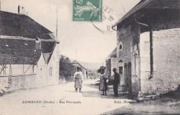 25 LOMBARD Coin Du VILLAGE Animé  MAISONS  Rue Principale 1916 - Frankreich