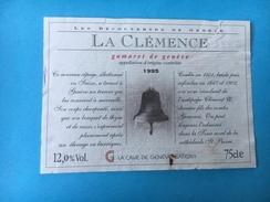 1731 - Suisse Genève  Gamaret 1995 La Clémence  (déchirure Sur Le Haut) - Etiquettes