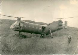 HELICOPTERE ALGERIE GUERRE SIKORSKIARMEE MILITAIRE MILITARIA PHOTO - Aerei